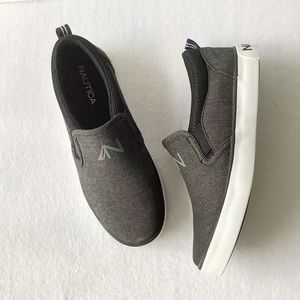 Nautica Gray Slip On Sneakers Size 1